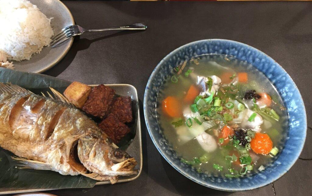 Sop Ayam & Ikan Bakar