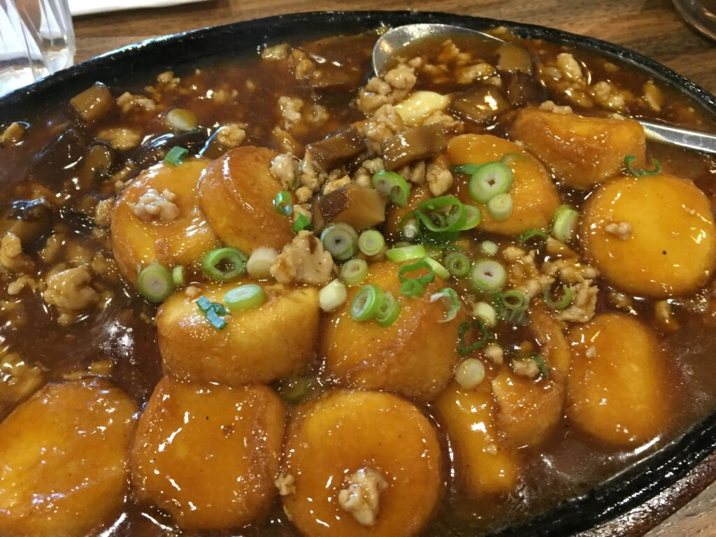 Sizzling Tofu with Minced Pork